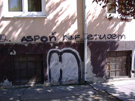 graffiti aspon nefetujem, Nove Zamky 20.5.2006